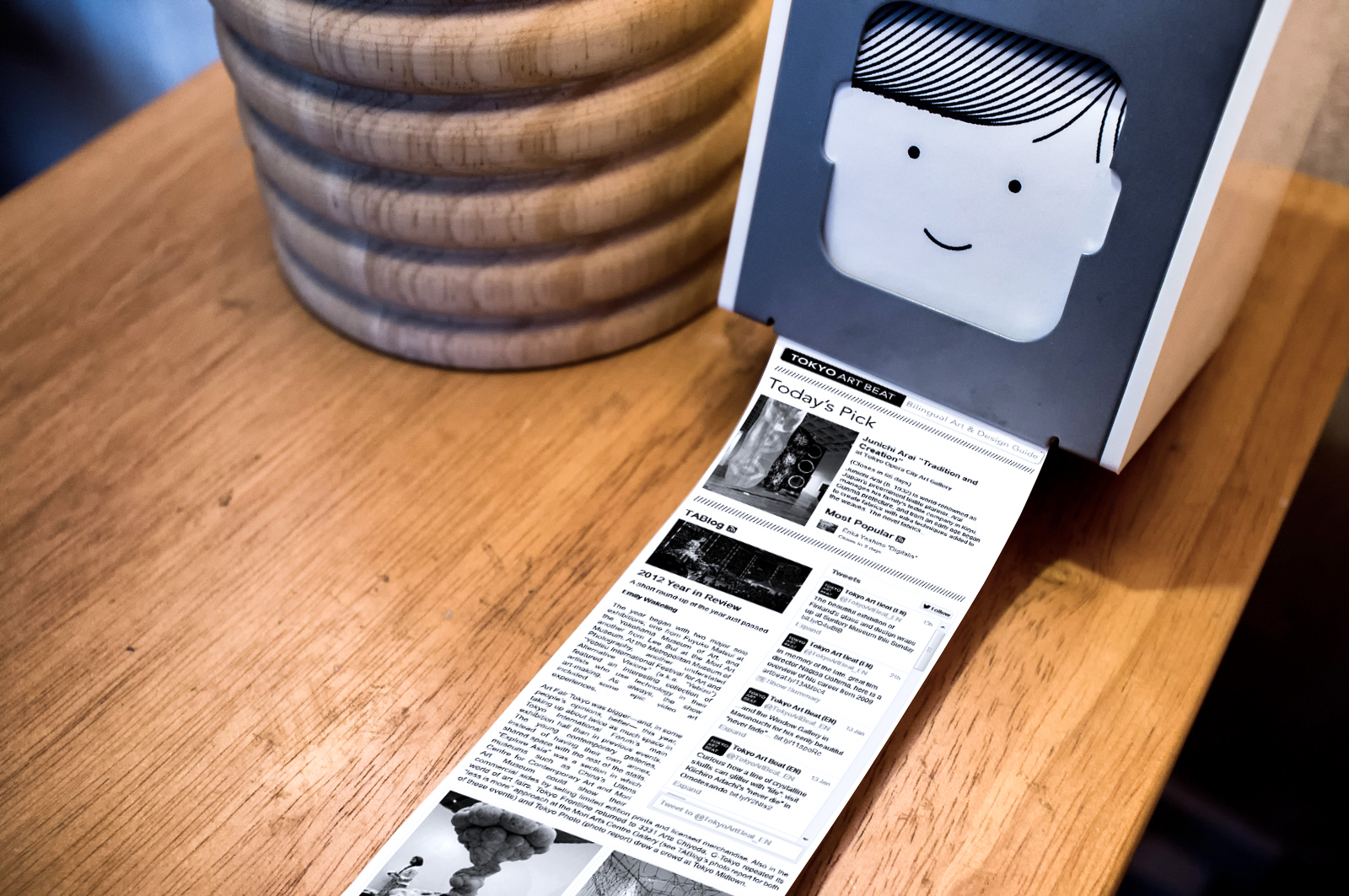 Tokyo Art Beat on the Little Printer